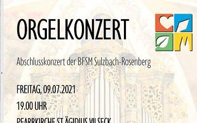 Orgelkonzert von Lukas Schöpf